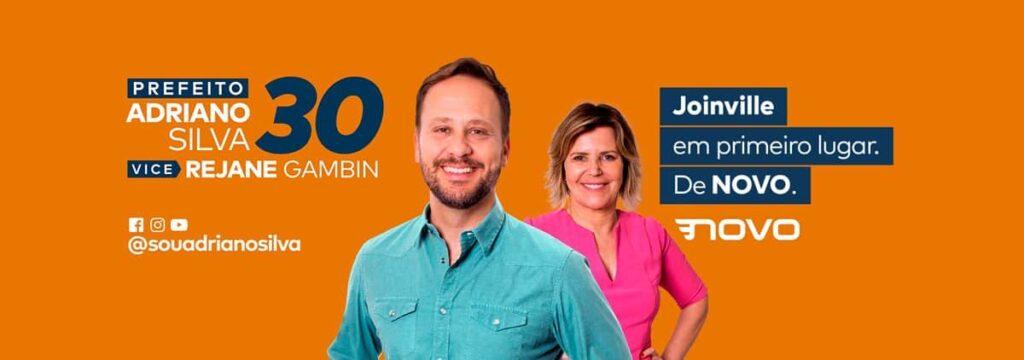 Adriano Silva prefeito de Joinville, campanha by Marketeria